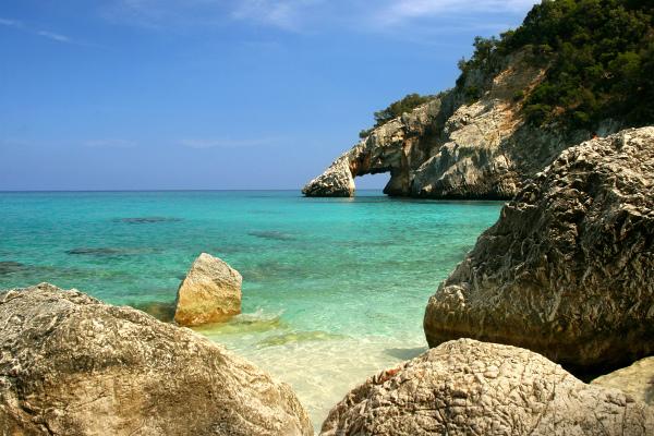Pláž Cala Goloritze - Cala Gonone Sardinie