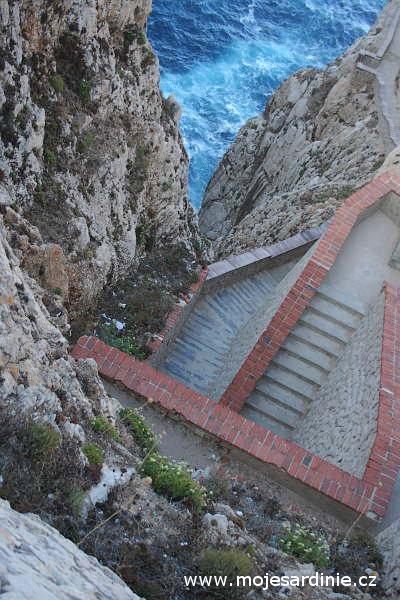 Výhled z Capo Caccia, Alghero - Sardinie